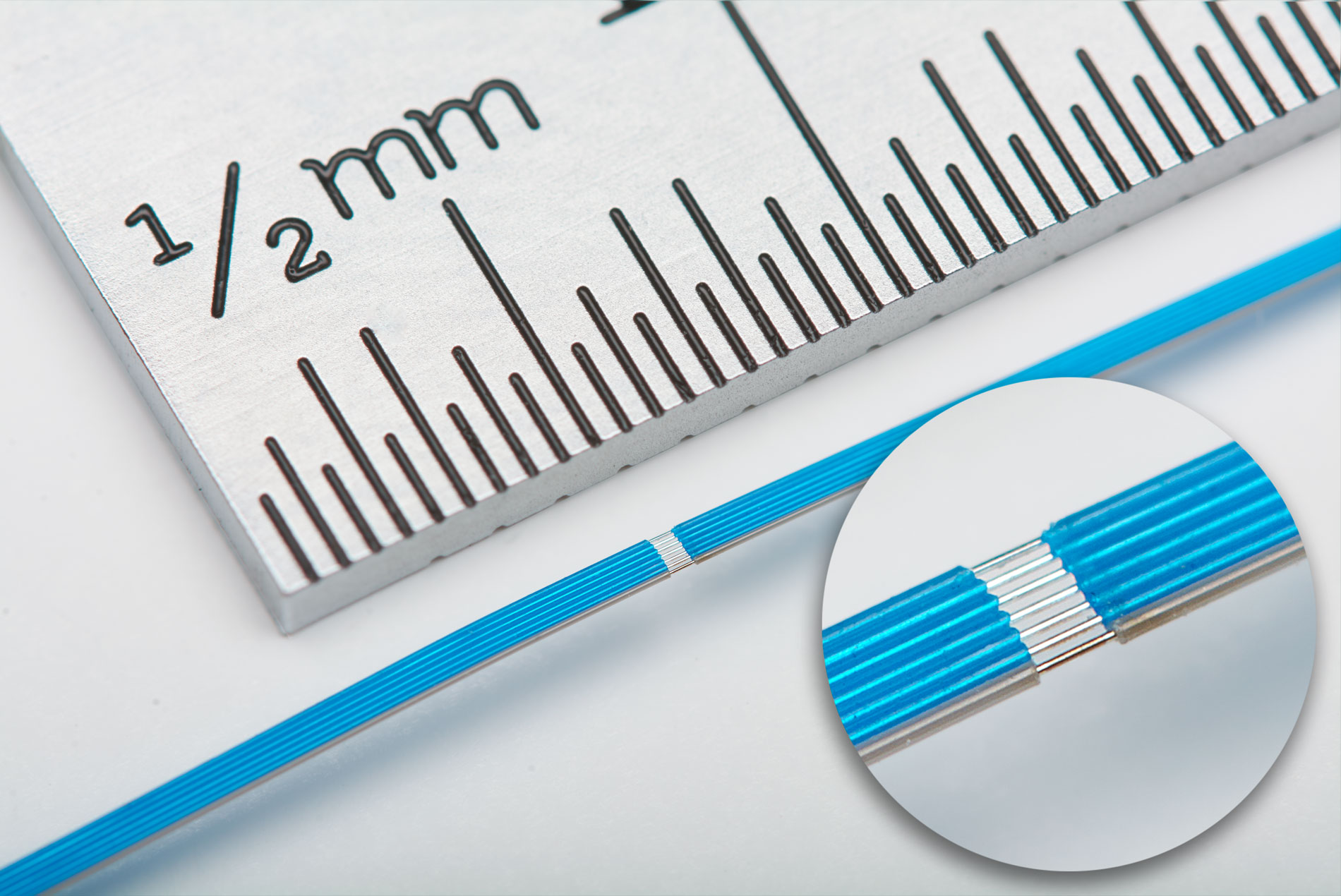 microwire against metric ruler photo