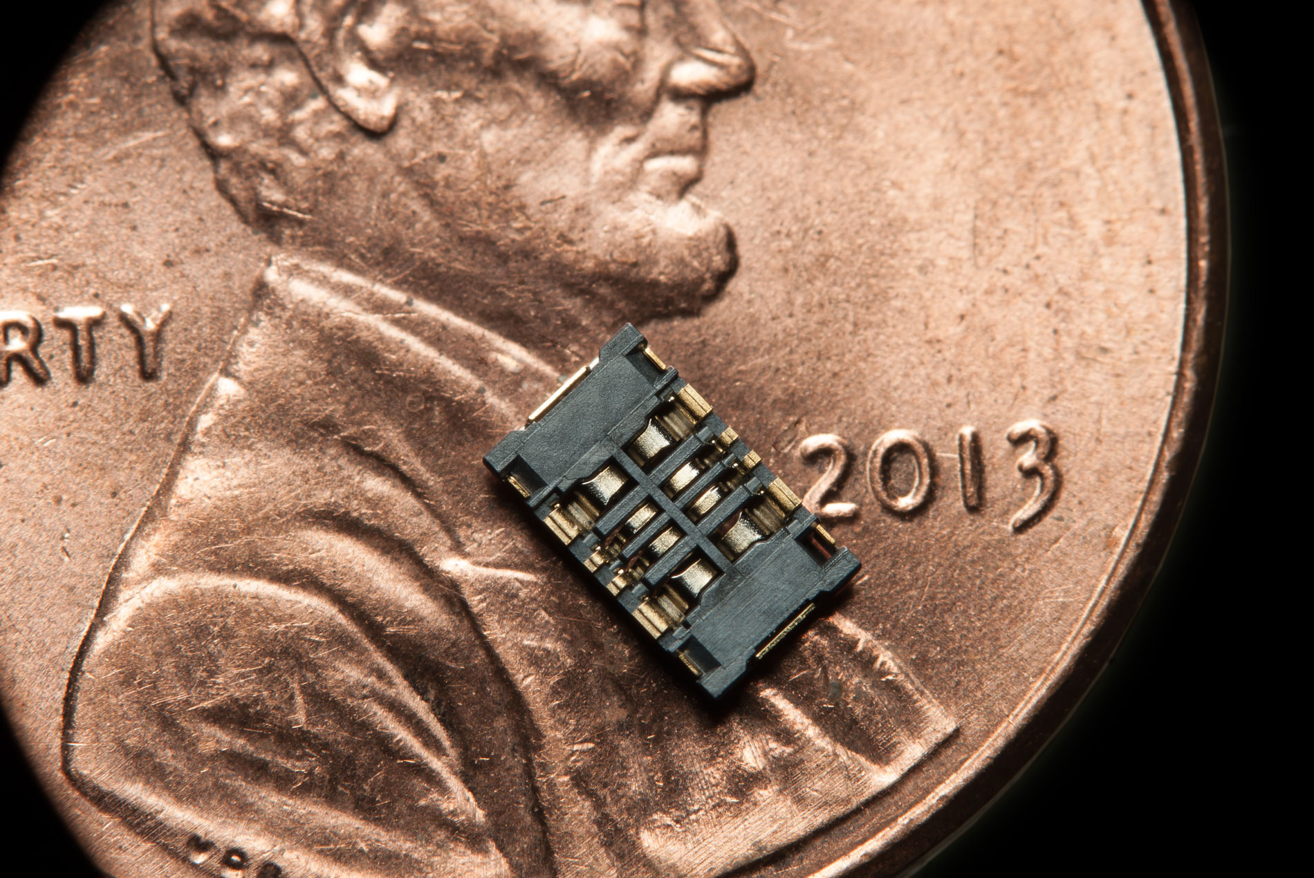 microchip on a penny photo