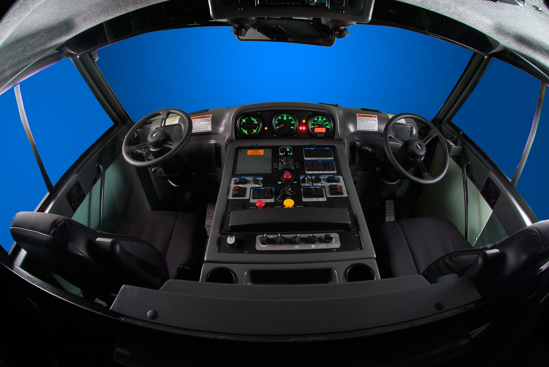 interior truck cab photography